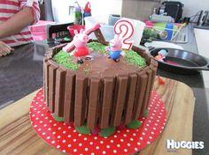 Peppa Pig Jumping In Muddy Puddles | Huggies Birthday Cake Gallery - Huggies.com.au