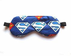 Superman Sleep Eye Mask, your choice of size and back fabric - Brought to you by Avarsha.com