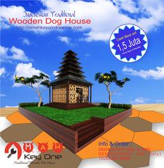 Indonesian Traditional Wooden Dog House Rumah Adat Bali