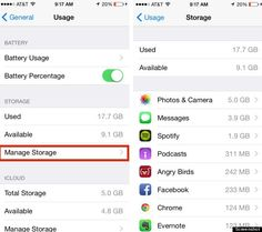 iphone storage