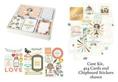 Project Life Adventure Edition- Core kit, 4x4 cards, and chipboard stickers shown