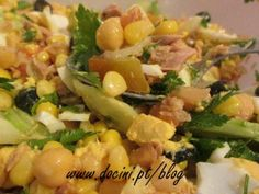 Salada de Grão e Atum com Molho Vinagrete