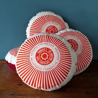 Tunnock's Teacake Printed Cushion by nikkimcwilliams on Etsy, Tunnocks Tea Cakes, Printed Cushions, Cushion Pads, Gifts For Father, Screen Printing, Print Design, Etsy Seller, Gift Wrapping, Pillows
