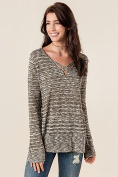 Cassia Lattice Tunic Sweater