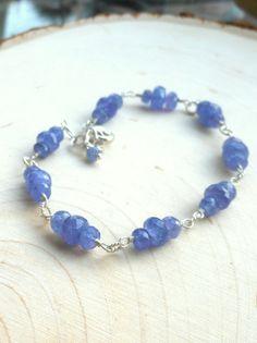 Tanzanite Bracelet Gemstone Bracelet periwinkle by AeridesDesigns, $76.00