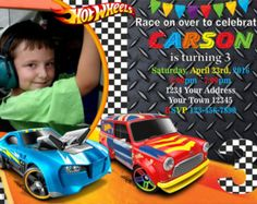 Hot Wheels Favor Tags Printable Car Birthday By Partyprintouts - Hot wheels birthday invitation how to make