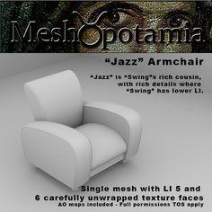 """Meshopotamia Art Deco """"Jazz"""" Armchair"""
