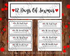12 Days of Sexmas Naughty Christmas Gift Printable Naughty Coupon Books For Boyfriend, Coupons For Boyfriend, Cute Boyfriend Gifts, Naughty Christmas, 25 Days Of Christmas, Christmas Gifts For Him, Diy Christmas Gifts Boyfriend, Christmas Games, Anniversary Gifts For Him
