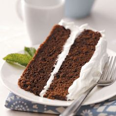 """Chocolate Sour Cream Torte Recipe -This elegant cake is sure to evoke stunned """"wows"""" from guests. Create toppings to fit the occasion; it lends itself perfectly to any garnish at all. —Karen Rames, Hickory Hills, Illinois"""