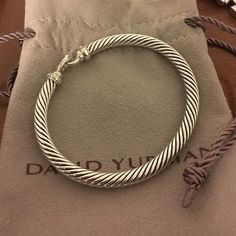 David Yurman 5mm bracelet with diamonds David Yurman Jewelry Bracelets