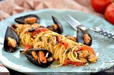 Spaghetti con le cozze, alla siciliana