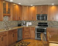 See more ideas about Impressive Oak Kitchen Cabinets Best Oak Kitchen Cabinets Design Ideas Remodel Pictures Houzz #29185, SL Home Interior Design #homeremodelingpictures