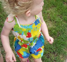 Pleated Playsuit free pattern from Elephants and Elegance