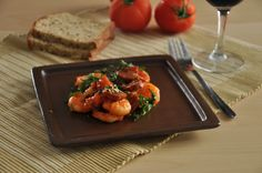 Pan-fried prawns and chorizo with sherry Fried Shrimp, Prawn, Chorizo, Bruschetta, Risotto, Fries, Cooking Recipes, Yummy Food, Ethnic Recipes