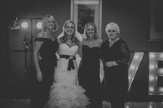 Wedding three generations Winter wedding photography Nan mom daughters