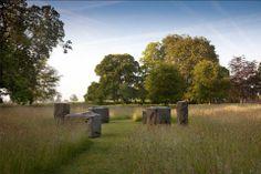 Standing Stones at Burton House - sculptor is  Eileen McDonagh.