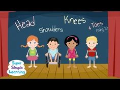 Head, Shoulders, Knees, & Toes - a nice quick brain break, done adorably!