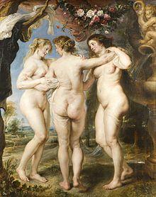 Peter Paul Rubens - The Three Graces, 1635, Prado