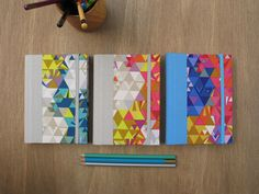 2016 Weekly Planners in a Colorful Geometric Design by Arte e Luar