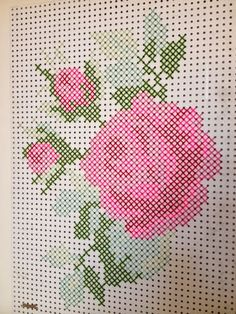 My love of playing with scale is known , I have this obsession with trying things in differ ways ,cross stitch in one of my beloved embroide...