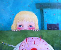Artodyssey: Cezara Kolesnik Paris, Painting, Cat Breeds, Montmartre Paris, Painting Art, Paris France, Paintings, Painted Canvas, Drawings