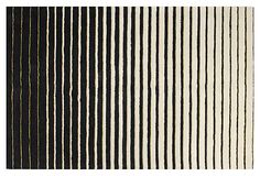 Bradley Rug, Ivory/Black on OneKingsLane.com