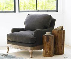 Linen Upholstered Chair - #InspiredGreenLiving