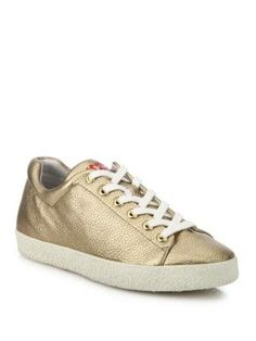 ASH Nicky Bis Metallic Leather Sneakers. #ash #shoes #sneakers