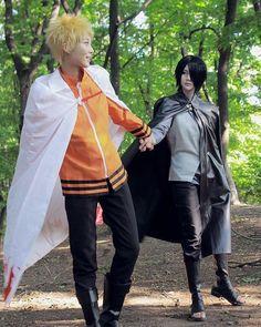 Naruto and Sasuke cosplay Sasuke Cosplay, Cosplay Anime, Cosplay Boy, Epic Cosplay, Amazing Cosplay, Cosplay Outfits, Vocaloid Cosplay, Boruto, Sasunaru
