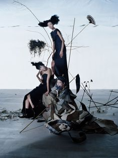 Xiao Wen Ju, Fei Fei Sun, Sang Woo Kim by Tim Walker Vogue China December 2014