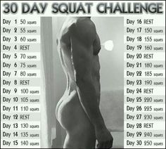 30 day squat challenge..nice photo incentive too!