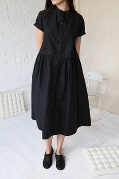 rennes Camille Dress Black