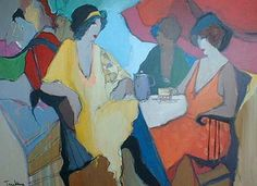 Afternoon Tea (44x57 oil painting on canvas)view more by Itzchak Tarkay