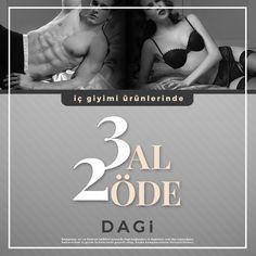 Tüm iç giyim modellerinde 3 Al 2 Öde! Hemen mağazalara ve dagistore.com ' a gel,bu çok özel kampanyadan yararlan. Unutma son gün 19 Haziran! #Dagi #kampanya #erkek #kadın #içgiyim #giyim #iççamaşırı #indirim #underwear
