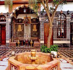 Leelah Guzma Syria house , syria culture, syria before and after, sy Syria Before And After, Leelah, The Beautiful Country, Beautiful Things, Islamic Architecture, Islamic Art, Islamic Decor, Building Design, Interior And Exterior