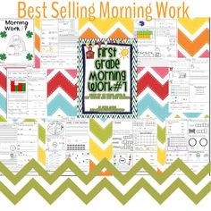 This ELA and Math Common Core Morning Work is a best seller for a reason! Students work independently reviewing important concepts while you take care of your responsibilities, such as attendance!