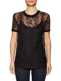 Embroidered Organza Top by Carven at Gilt