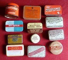 Vintage - Medicine / Chemist Advertising Empty Tins (Individually Priced)