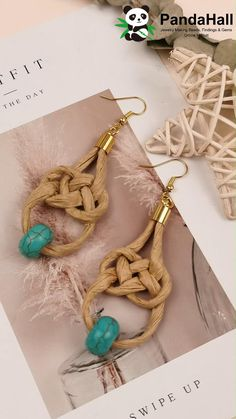 Handmade Wire Jewelry, Diy Crafts Jewelry, Bracelet Crafts, Paper Jewelry, Fabric Jewelry, Earring Crafts, Weaving Loom Diy, Diy Earrings, Fabric Earrings