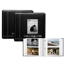 @Overstock - Present your treasured photos in these Pioneer Sewn Black Leatherette Memo Photo Albums. Each album contains 200 pockets and features a deluxe rounded bookstyle spine.http://www.overstock.com/Crafts-Sewing/Pioneer-Sewn-Live-Laugh-Love-Frame-Design-Black-Leatherette-Memo-Photo-Albums-Pack-of-2/3834611/product.html?CID=214117 $27.99