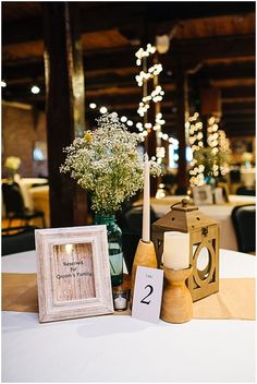 Burlap wedding reception decor // rustic wedding antique details via @savvybride