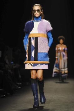 Byblos went bright and vivid for ribbon-thread dresses that shimmied as they sauntered and patchwork bright styles - skirts and dresses and bombers. What we're getting at is: don't be think...