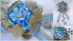 fiocco nascita Baby Shower Niño, Easy Diy Crafts, Newborn Gifts, Used Iphone, Creative Inspiration, Fabric Flowers, Burlap, Christmas Crafts, Baby Boy