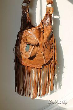 bb4c9924bd6d Copper rusted orange leather fringed purse fringe bag crossbody  asymmetrical natural gemstone 70 s boho bohemian hippie festival gypsy