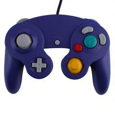 Controller Gamepad Joystick for Nintendo for GameCube / Wii Platinum Purple