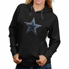 33d29d38a Dallas Cowboys Ladies Stitched Star Pullover Hoodie - Black