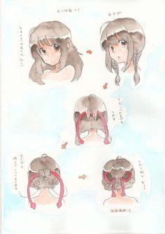 Animator : Shinkai Makoto, Kimi no na wa, Your name, หลับตาฝัน ถึงชื่อเธอ, Fanart, Hairs style of Miyamizu Mizuha