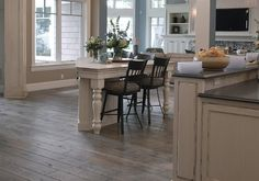 creative of rustic hardwood flooring rustic wood flooring ideas 6 ways to MGJIKTP Rustic Hardwood Floors, Grey Hardwood, Hardwood Floor Colors, Painted Wood Floors, Grey Wood Floors, Refinishing Hardwood Floors, Acacia Flooring, Wood Floor Kitchen, Floors Kitchen