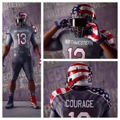 Post with 2550 votes and 12566 views. Northwestern University will be wearing these uniforms to raise awareness for the Wounded Warrior project. Free Football, College Football Teams, Football Uniforms, Sports Uniforms, Football Helmets, Football Humor, Football Predictions, Wounded Warrior Project, Northwestern University