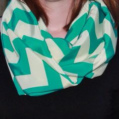 Mint Chevron Infinity Scarf by OutOfDustScarves on Etsy, $12.00